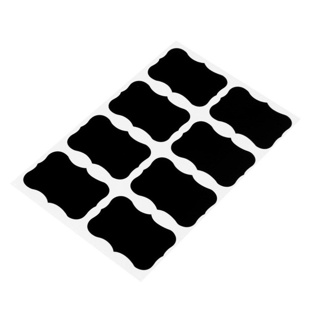 36 Pcs Craie Stylo Tableau Noir Autocollants Labels Vinyle Cuisine Pot Mur tasse Bouteille Planificateur Miroir Résultat Supérieur 60 Unique Planificateur Cuisine Pic 2018 Hht5