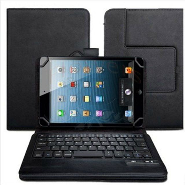 Universal Detachable Bluetooth Keyboard & PU Leather Case Cover Bag For SAMSUNG GALAXY TAB3 LITE T110 7'' Tab SM-T700 8.4'' bluetooth detachable keyboard folio case cover for samsung galaxy tab a 9 7 t550 h029