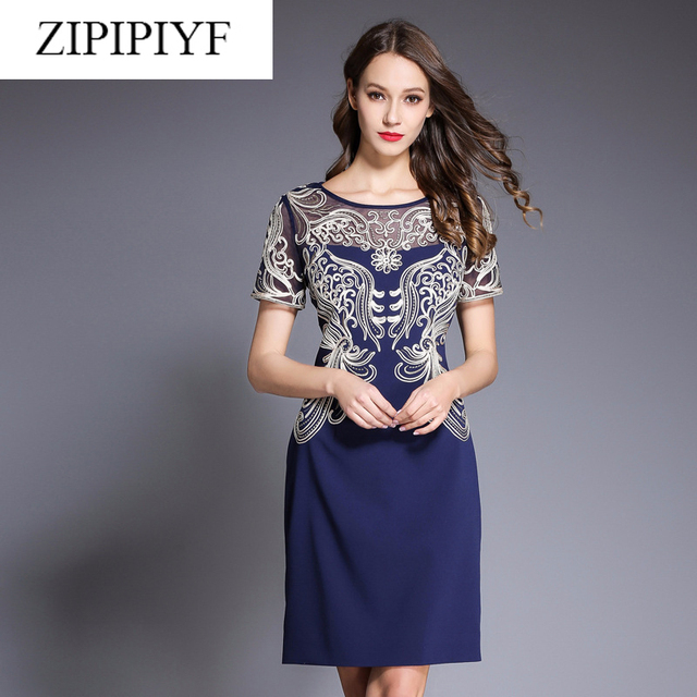 High Quality Newest Fashion 2018 Unique Runway Dress Women S Hollow