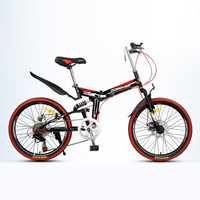 Folding bicycle 22 inches Both men and women Aluminum alloy Double disc brake