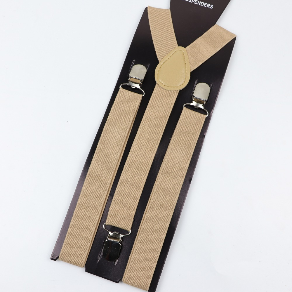 Soild Color Man Belt Men Woman Men's Suspenders Clip-on Y-Back Braces Elastic Women Adjustable