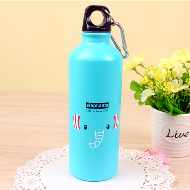 Quality Lovely Animal Outdoor Water Bottles Portable Sports Cycling Camping Aluminum Alloy Kids Water Bottle 500ml