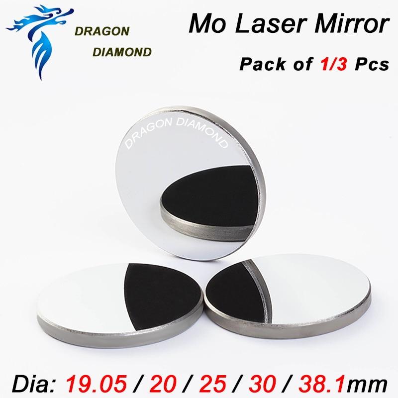 3pcs/set CO2 Laser Mirror Diameter 19.05mm 20mm 25mm 30mm 38.1mm MO Material Mirror For CO2 Laser Machine Mirror mount mo materials co2 laser lens mirrors 20mm diameter 95% reflecting rate