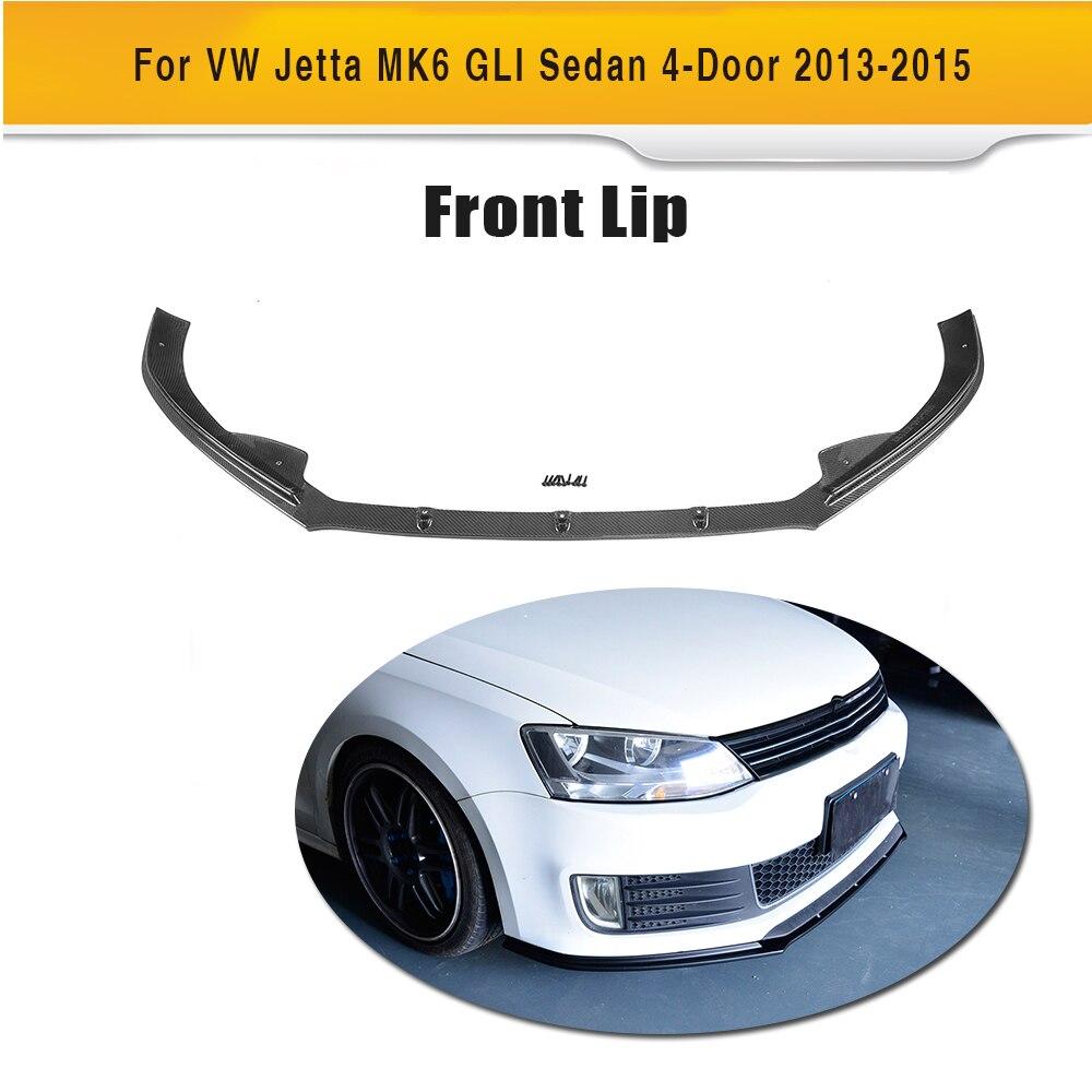 Carbon Fiber Front Lip Spoiler for Volkswagen VW Jetta GLI MK6 Sedan 4 Door 2013-2015 Black FRP Car Styling carbon fiber front lip spoiler for volkswagen vw jetta gli mk6 sedan 4 door 2013 2015 black frp car styling