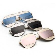 Fashion Sunglasses Women Double Color Lenses steampunk goggles uv400 cool glasses sunglasses beam suv400 mirror glasses1904