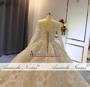 Image 5 - 2019 gelinlik formal dress long sleeves wedding dress