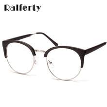 858aca8de8ab4 Ralferty Rodada Mulheres Óculos de Miopia Armações De Óculos Armações de Óculos  sem aro Semi-Decoração de Dioptria Óculos Da Mar.