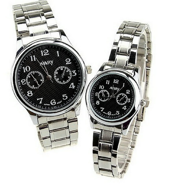 Business casual fashion watch men and women students air strip outdoor sports with retro couple table