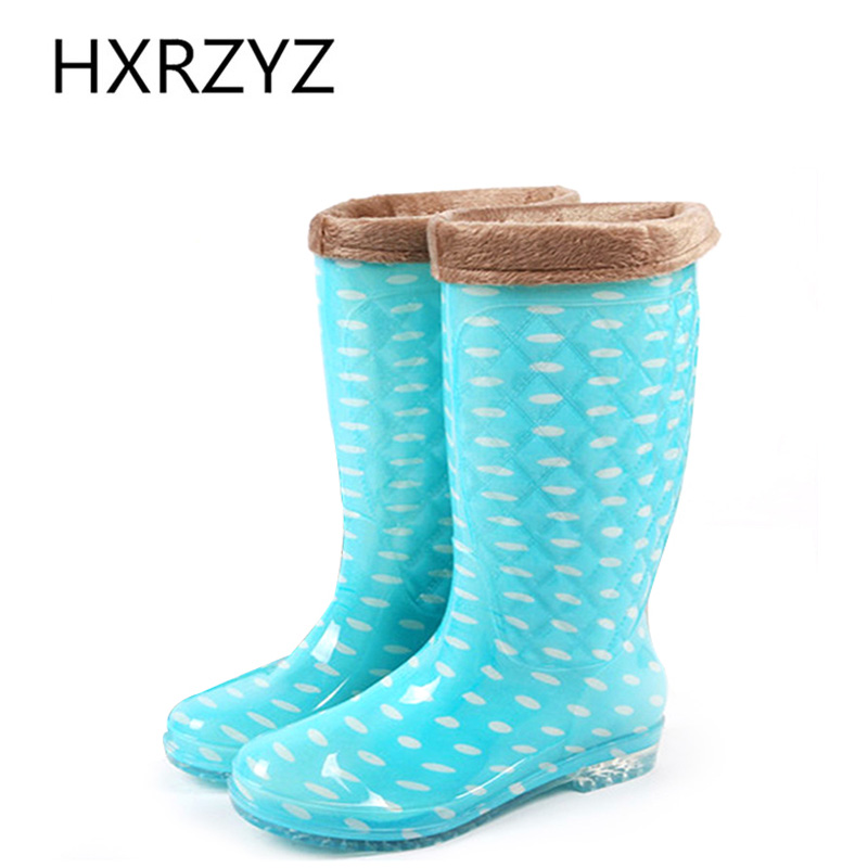 water shoes woman spring lady non-slip Plus cotton warm rubber boots fashion waterproof Rain shoes high-top Rain boots women john paul mueller beginning programming with python for dummies