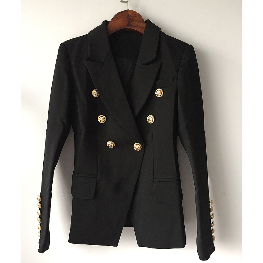 O'ZACKET Jacket Women's Double Breasted Buttons Blazer size