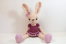Bunny rabbit  Ballerina  AmigurumiKnitted Stuffed animals dolltoy baby shower