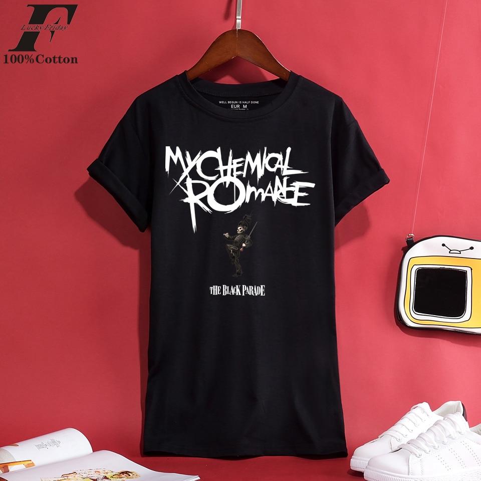 LUCKYFRIDAYF 2018 My Chemical Romance 100% Coton T-shirt Hommes/Femmes T-shirts Hommes Printemps et Été Frais T-shirt Court Hommes Casual