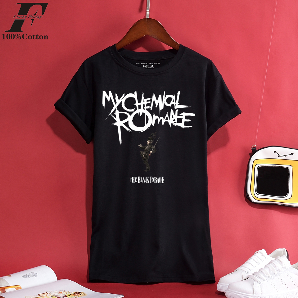 LUCKYFRIDAYF 2018 My Chemical Romance 100% Cotton T-shirt Men/Women T-shirts Men Spring and Cool Summer Short Tshirt Men Casual