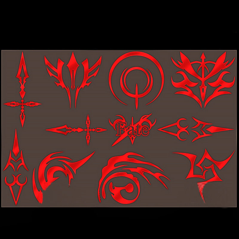 11pcs set Fate Stay Night Anime Metal Decal Stickers for Mobile Phone Laptop Sticker DIY Scrapbook Stickers Toy in Stickers from Toys Hobbies