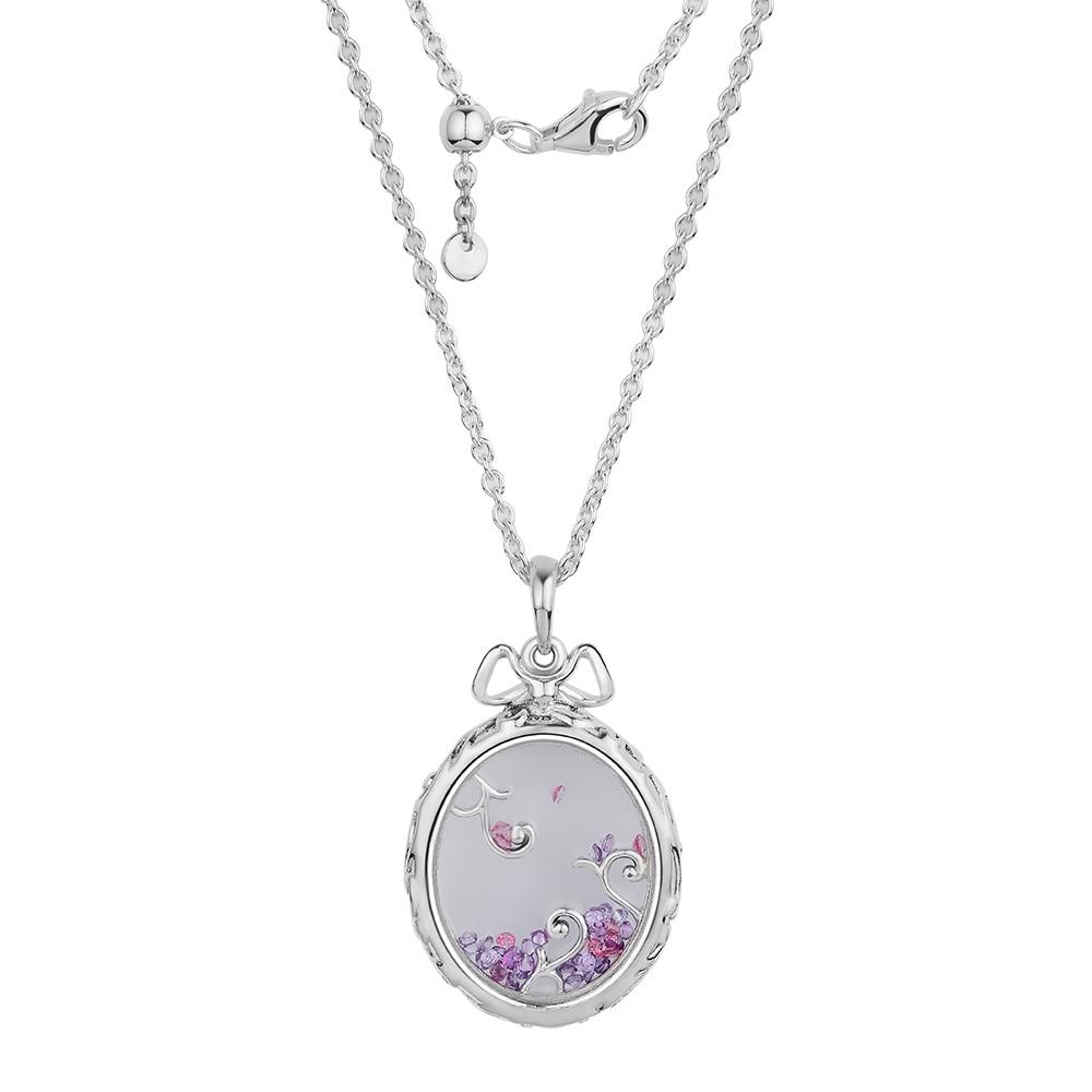 CKK 925 Sterling Silver Locket Of Dazzle Necklace, Multi-Colored Pendants For Women Original Jewelry Making