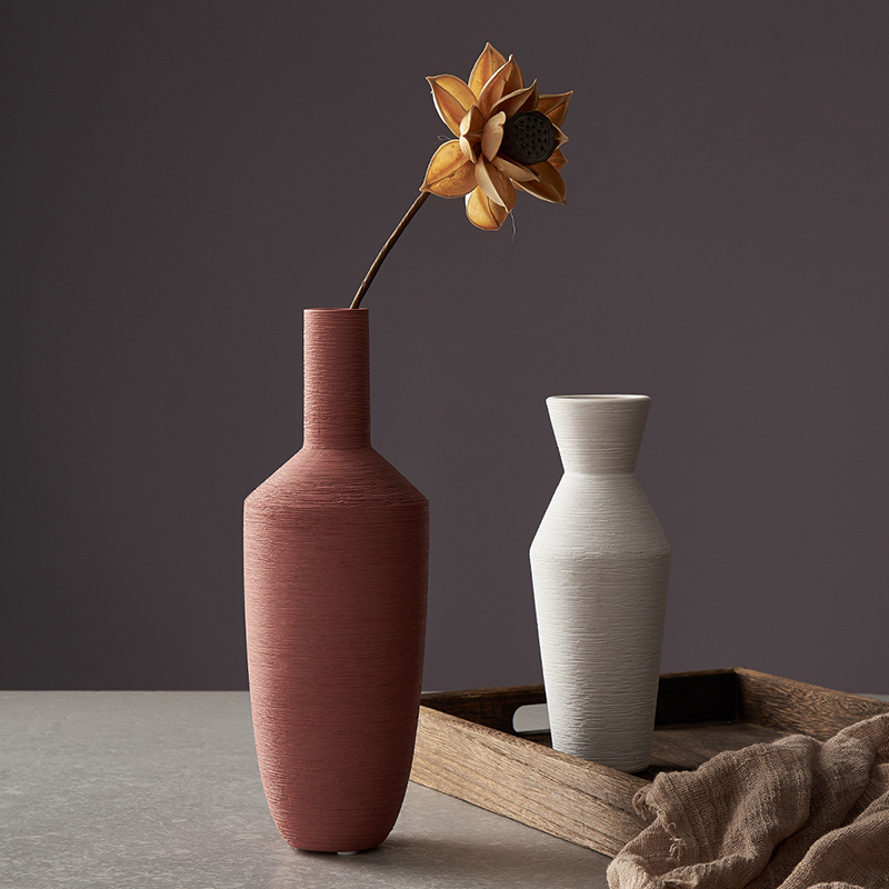 Nordic Style Simple Modern Ceramic Vase Decoration Home Living Room Desktop Arrangement Flower Decoration