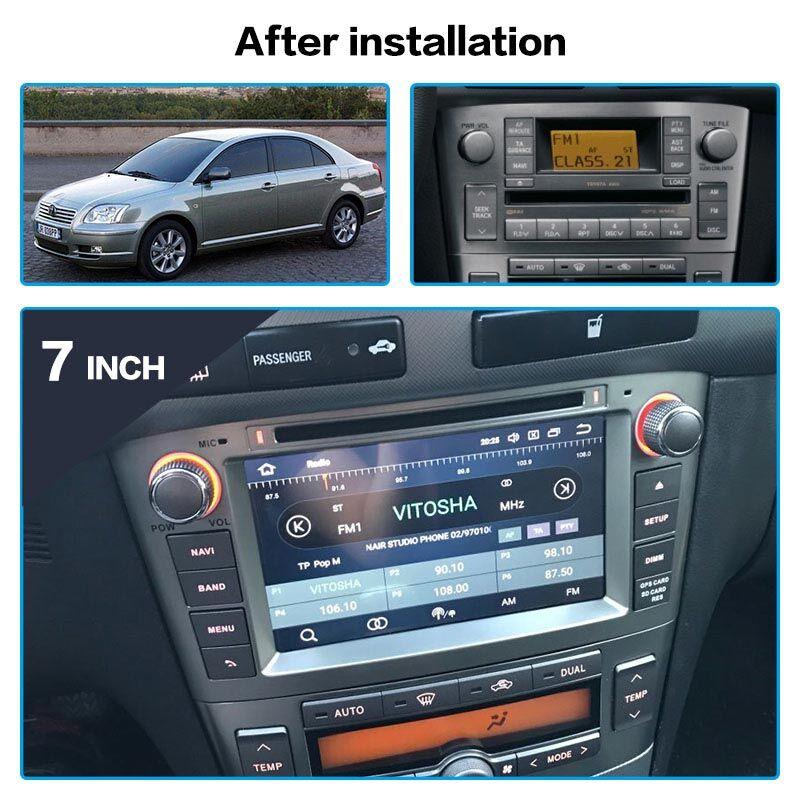 GPS Navigation Multimedia Stereo-Head-Unit Car-Radio Avensis Auto Toyota Android 9.0