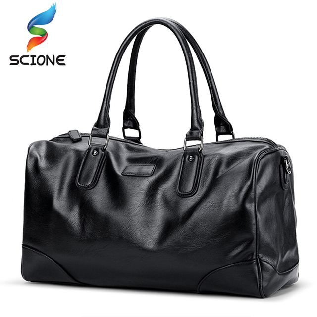 Hot Top PU Sports Bag Training Gym Bags Men Woman Fitness Bags Durable Multifunction Handbag Outdoor Sporting Tote For Male