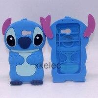3D Case Cute Gel Rubber Silicone Phone Case Silica Stitch lio Soft Cover For Samsung Galaxy A3 2017 A320F A320Y A5 2017 A7 2017