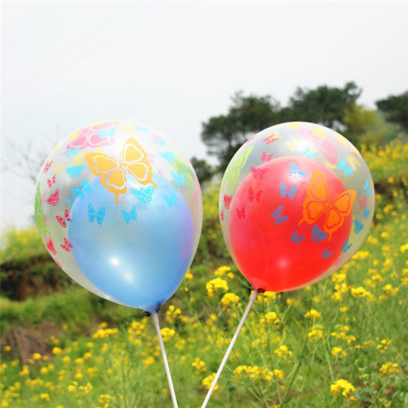 Helium Quality 15x Spring Meadow Pearlised Latex Balloons