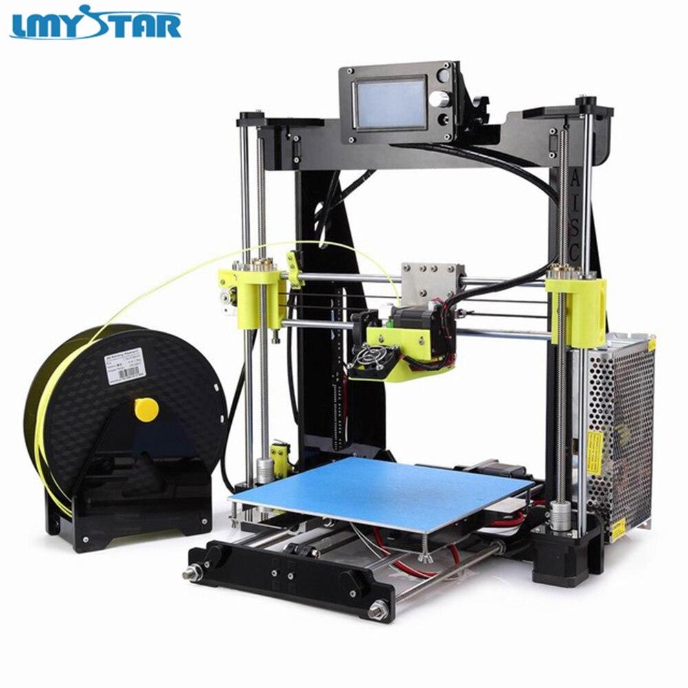 LMYSTAR 3D принтер impresora 3D I3 imprimante Matel алюминиевый 3d Высокоточный 3d принтер комплект DIY легко собрать 3D печать комплект