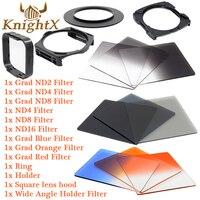 KnightX nd 렌즈 컬러 필터 세트 Cokin P 니콘 캐논 t5i D3200의 D3100의 700d D3300의 D5300의 1100D 49 52 55 58 62 67 72 77 82 미리메터