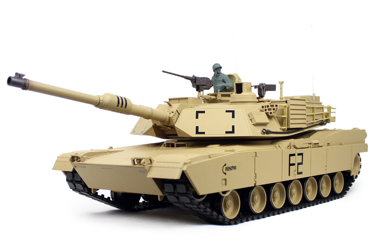 US $245 0 |HENGLONG RC USA main battle tank M1A2 ABRAMS 1/16 2 4G RC metal  tank BB ball gun battle game top gift best price-in RC Tanks from Toys &