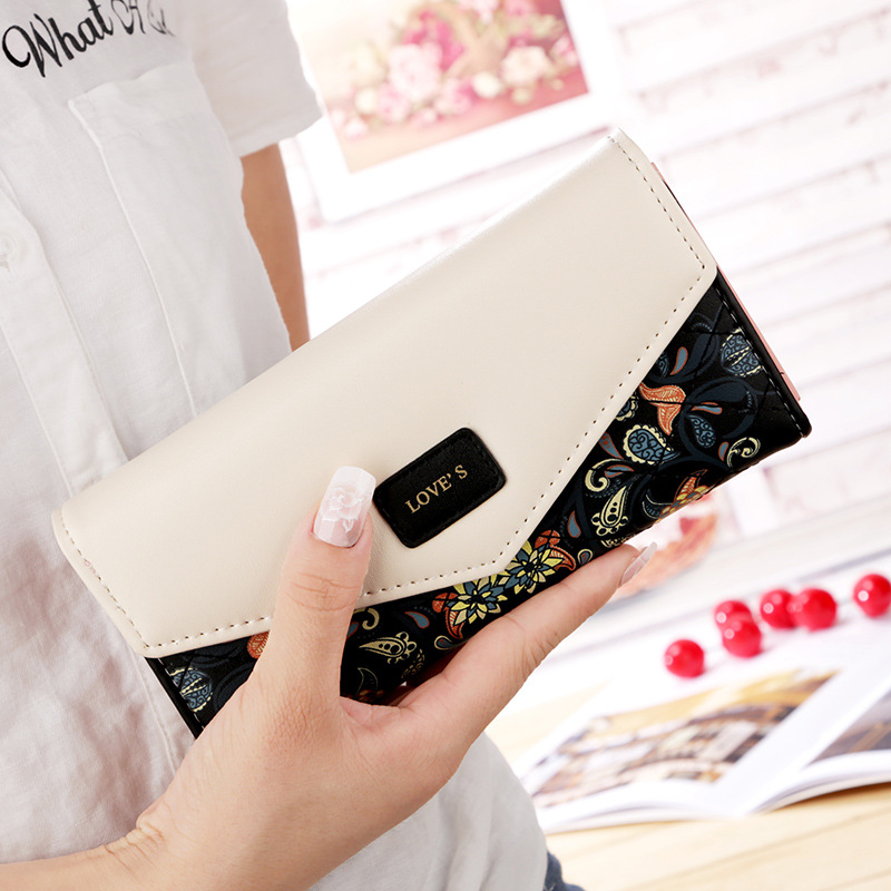 2019 Fashion Women Wallet Female Purse Flowers Purse Female font b Phone b font Wallet Pocket
