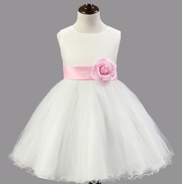 ФОТО Princess Dress Organza Veil Ball Gown Children Dresses Girls Prom Birthday Party Flower Dresses For Wedding Dress