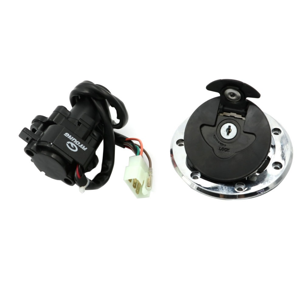 Ignition Switch Lock Fuel Tank Cap Cover Lock Key Sets For Kawasaki ZX 9R 94 03