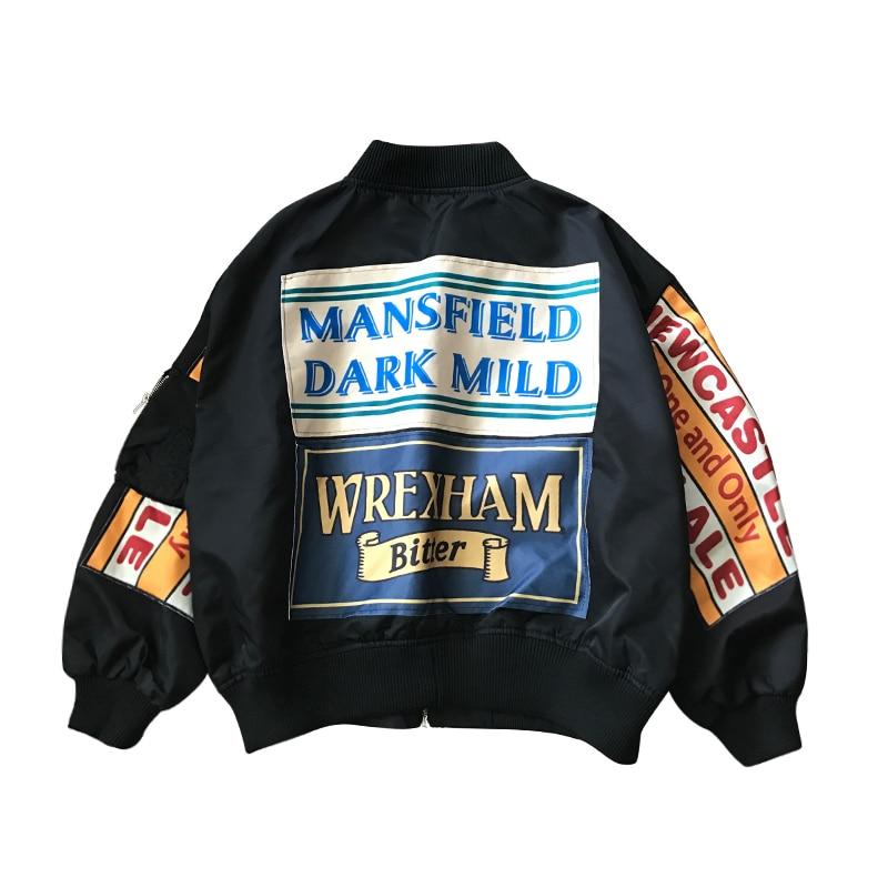 Basic     Jackets   Women Tops   Jacket   Fashion Bomber   Jacket   Clothing Retro Letter Printing Baseball Women Short Clothes