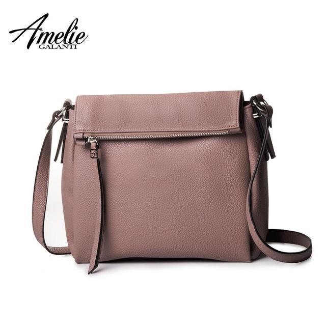 AMELIE GALANTI Women Messenger Bags Fashion Crossbody Bag Soft PU Leather Lady Handbag Designer for Women Cell Phone Pockets