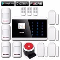 fuers Quad Band Touch Keypad TFT Dislay Wireless GSM PSTN House Security Voice Burglar Alarm IOS Android APP Remote control ARM