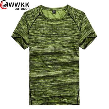 Szybkoschnący Stretch t-shirt z tkaniny lato z krótkim rękawem na co dzień 2019 nowy luźna koszulka każdą okazję moda dynamiczne 3d fałdki tanie i dobre opinie Camping i piesze wycieczki Tees Poliester Stałe Drytec Pasuje mniejszy niż zwykle proszę sprawdzić ten sklep jest dobór informacji