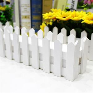 Image 2 - Wooden Fence Flower Pot Hanging Garden Basket Planter Plant fence artificial flowers Boxes For Wedding Home Decor