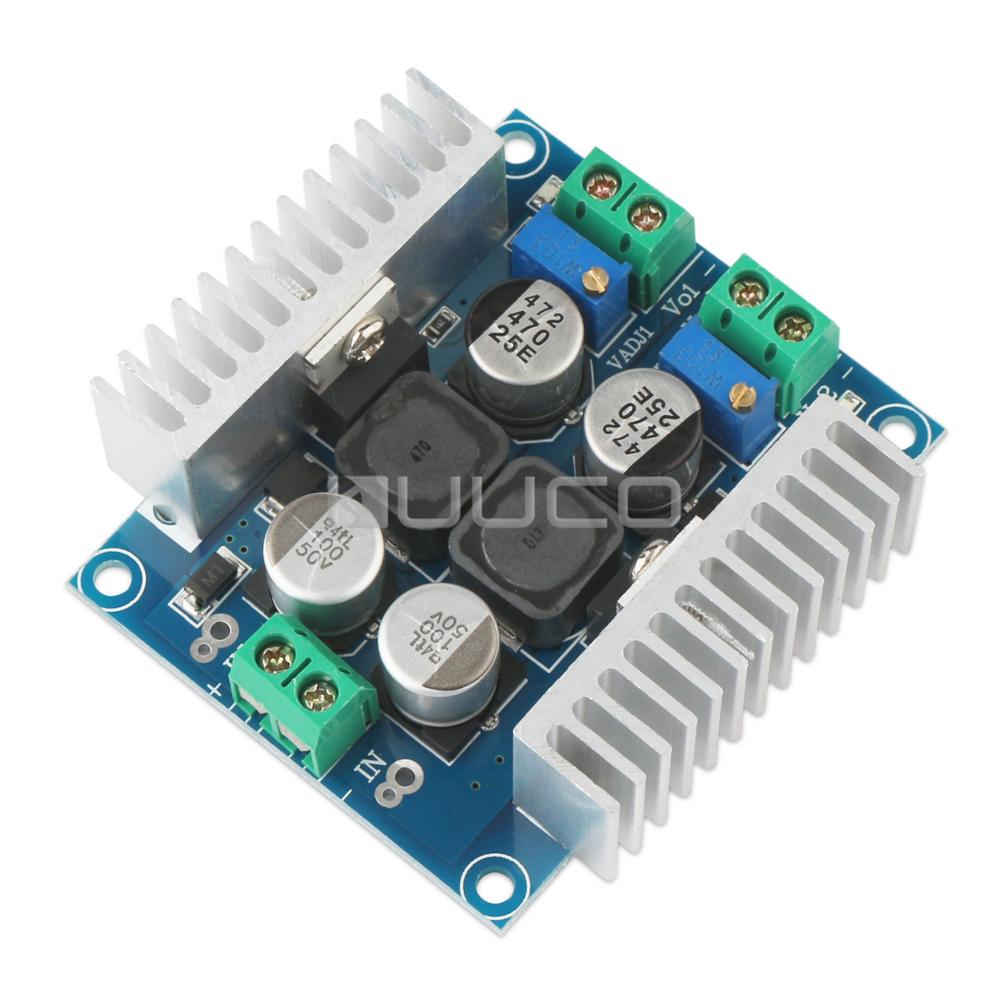 5 PCS/LOT DC 12V 24V Adapter DC 5V~40V to 1.25V~35V 3A 20W Dual-way Output Adjustable Power Supply Module/Regulator/Driver lm2596 multiple output power supply module dc 5 40v to 3 3v 5v 12v adj 4 way buck converter voltage regulator adapter driver