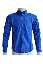 2017 NEW New men shirt casual slim fit mens dress shirts Royal blue