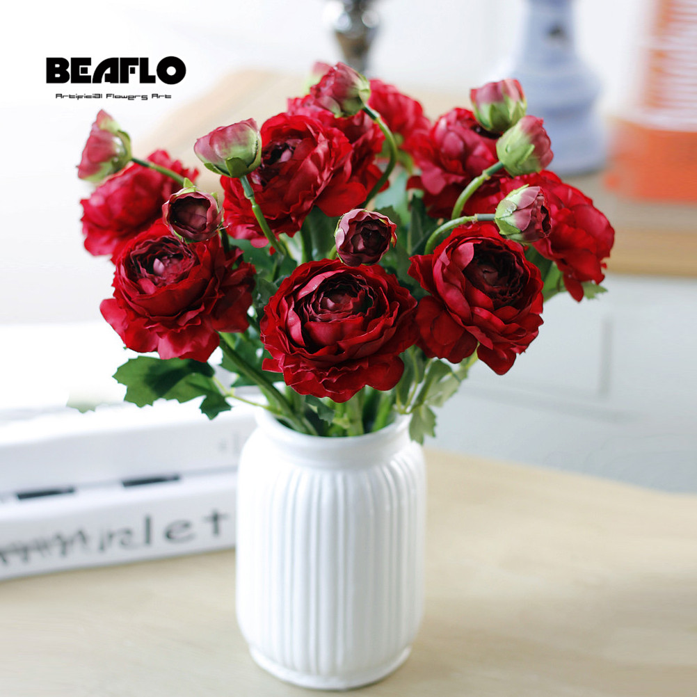 1 Branch European Pretty Wedding Mini Peony Artificial Silk Flower