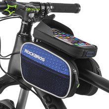 Rockbros Bike 6″ Phone Case Saddle Bag Bicycle Bag Rainproof Touchscreen Front Cycling Top Tube Bag Mountain Bike Accessories
