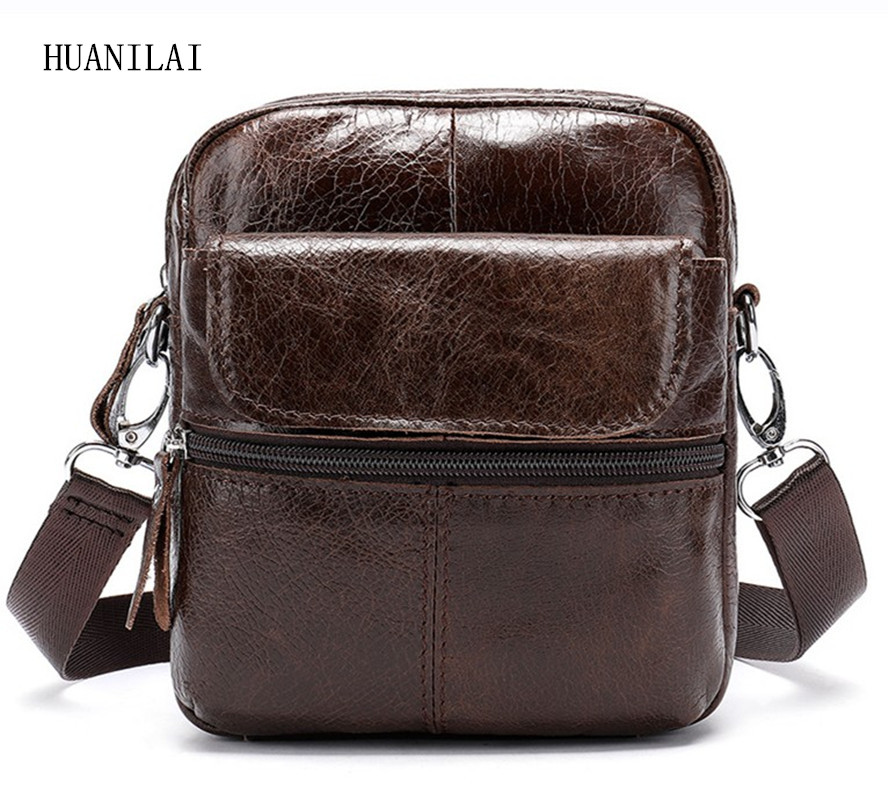 HUANILAI Men Genuine Leather Bags Messenger Shoulder  Crossbody For 100% Cowhide Handbags MLT02