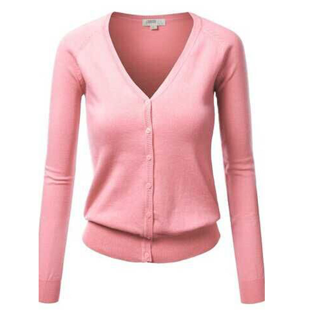 61300e398e1f Button Up Cardigan Winter Jacket Women S Sweaters Long Sleeve Sweater Women  Pink Sweater Black Cardigan Knitted Knitwear-in Cardigans from Women s  Clothing ...