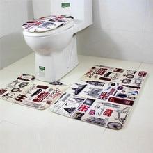 Locely Pet New 3Pcs/Set Bathroom Non Slip Sea Ocean Pedestal Rug+Lid Toilet  Cover+Bath Mat Home Decor 70719