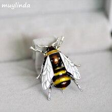 Fashion Enamel Bees Metal Mini Brooches Pins Men Women Suit Brooch And Pin Broach Metal Bu