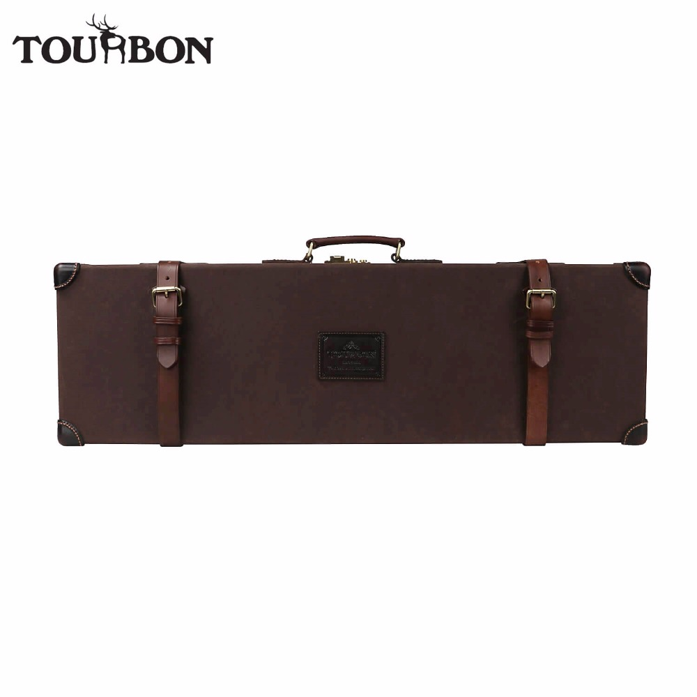 Tourbon Hunting Gun Case Hard Shotgun Storage Universal Canvas Wax Waterproof Rifle Carrier with Lock Shooting Gun Accessories tourbon tactical universal gun case hunting gun storage rifle shotgun carrier with lock gun accessories