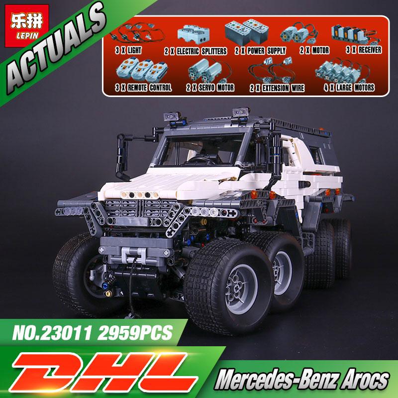 2017 New LEPIN 23011 2959 Pcs Technic Series Off-road vehicle Model Building Kits Block Bricks Compatible Toys