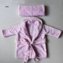 Newborn Baby Photography Props Scarf+Bathrobes 2pcs Set Fotografia Plush Costume  Shooting Photo Prop Shower Gift  Accessories