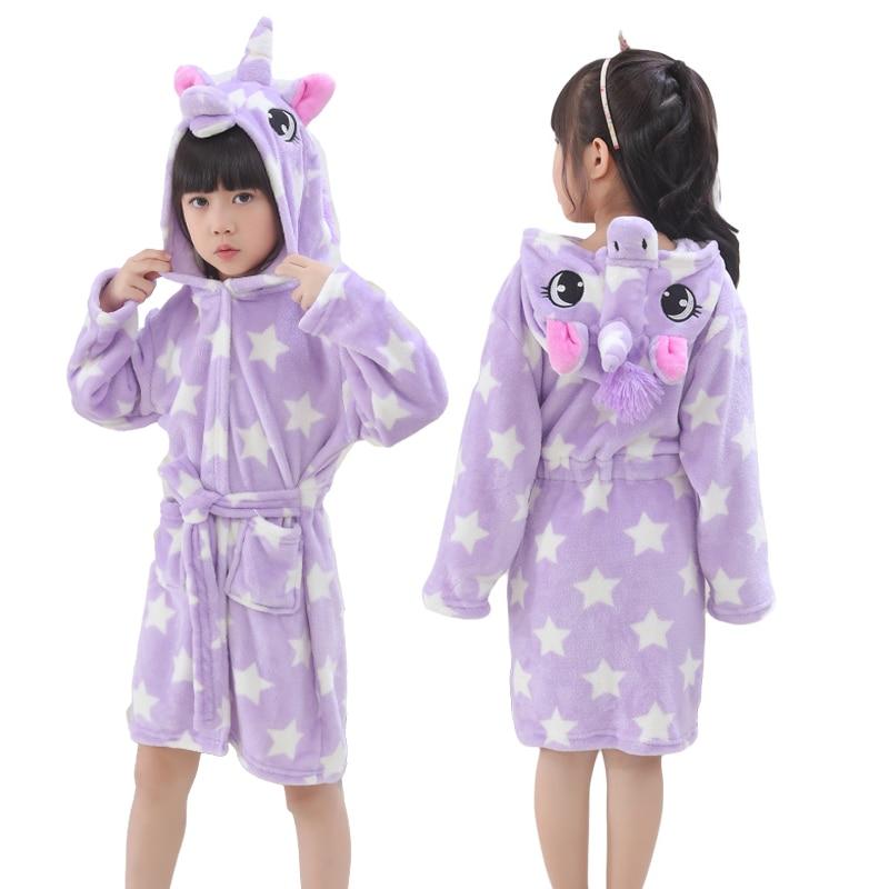 Detail Feedback Questions about Animal Bath Robes Kids Cartoon Star Unicorn  Stitch Sleepwear Bathrobe Flannel Warm Funny Pajamas Suit Boy Girl Homewear  ... d0ed729e8