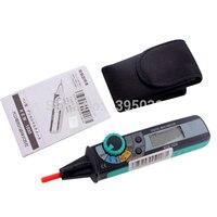 1 PC Compacto KEW 1030 LCD Digital Pen Tipo Multímetro Digital DMM LCD Backlight Display Com Manual de Inglês