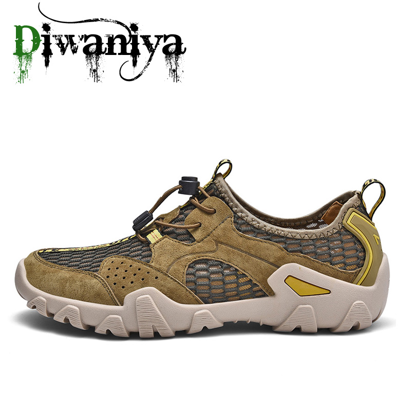 Diwaniya Summer Sneakers For Men Lightweight Quick-drying Outdoor Swimming Shoes Soft Barefoot Beach Shoes Sport Aqua Shoes