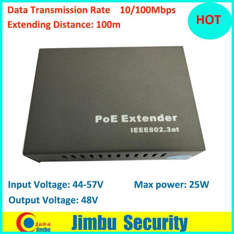POE extender 10/100Mbps Extender Distance 100M Input Voltage: 44-57V Input Voltage: 44-5 ...